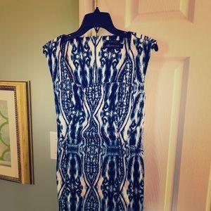 ⬇️Anne Klein blue & white abstract dress cocktail